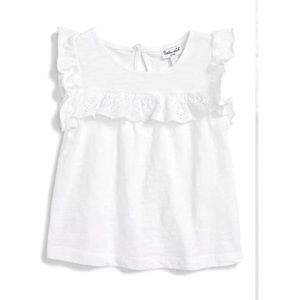 Splendid Eyelet Ruffle Top